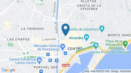 Malaga City Breaks Map