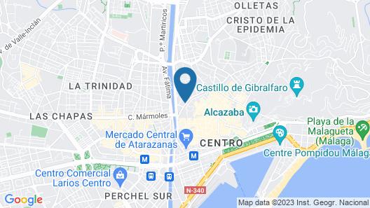 Pinar Apartments Málaga Centro Map