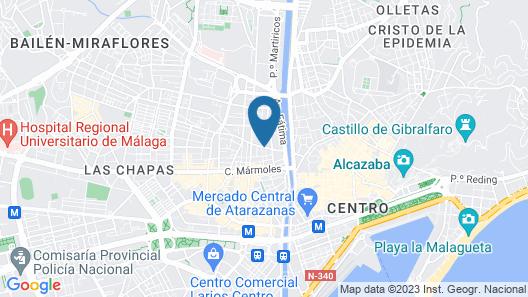 Apartamentos San Pablo Map