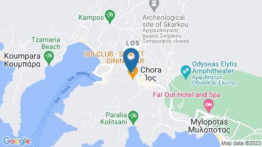 Avanti Hotel Map