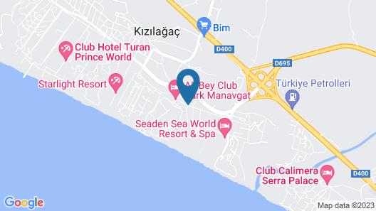 Ali Bey Park Manavgat - All Inclusive Map