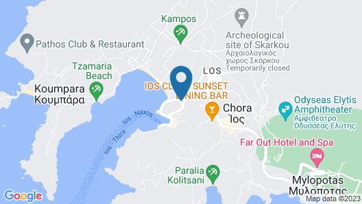 Yialos Ios Hotel Map