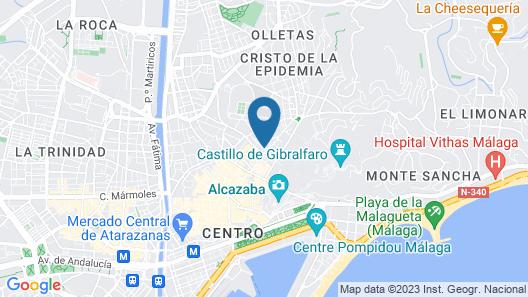 La Siesta Málaga Guesthouse Map