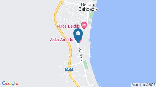 Akka Antedon Hotel - All Inclusive Map