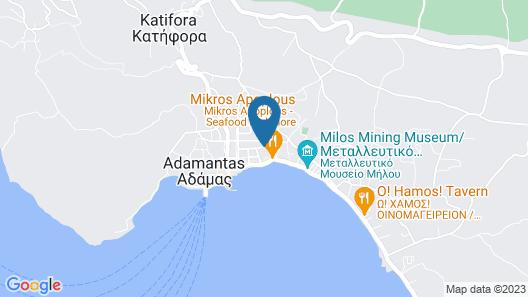 Milos Bay Suites Map