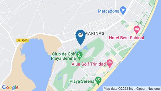 Roquetas Beach & Playa Serena Golf Map