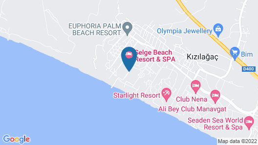 Selge Beach Resort & Spa - All Inclusive Map