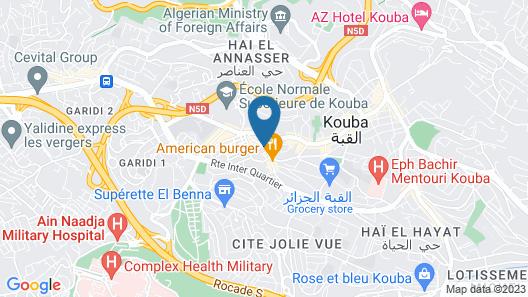 AZ Hôtel Vieux Kouba Map