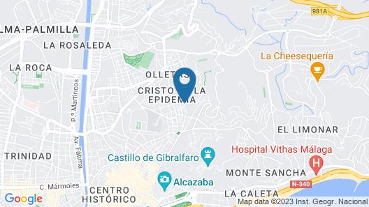 Malaga Lodge Guesthouse Map