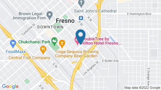 DoubleTree by Hilton Fresno Convention Center Map