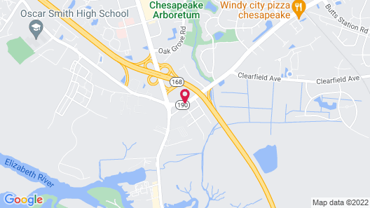 WoodSpring Suites Chesapeake-Norfolk South Map