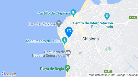 Charming Apartment in Chipiona Near Lighthouse Map