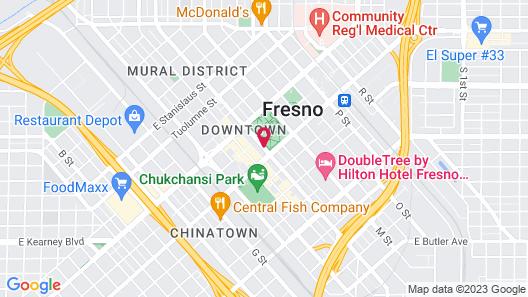 Radisson Hotel Fresno Conference Center Map