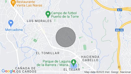 Malaga: Huvila, Jossa on Puutarha ja iso Uima-allas 10 Hengelle Map