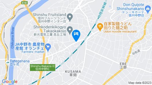 OYO Hotel Travel Inn Shinshu Nakano Map