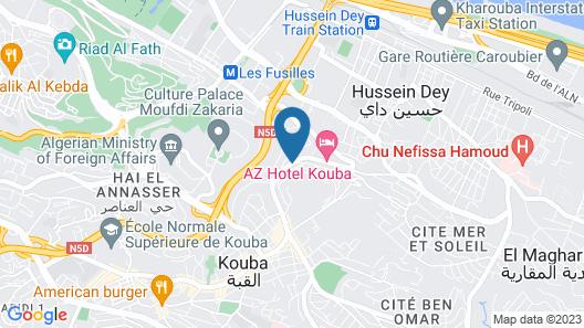 AZ Hôtels Kouba Map
