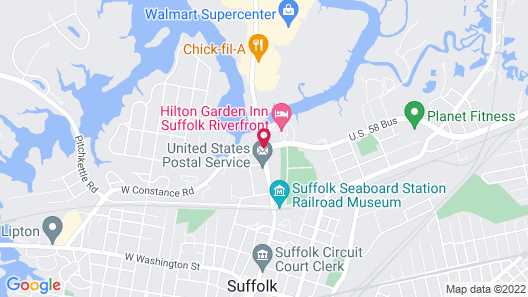 Hilton Garden Inn Suffolk Riverfront Map