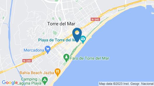 Nice Studio Torre del Mar Beach Map