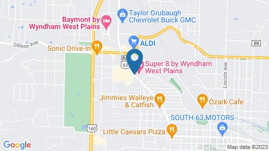 Super 8 by Wyndham West Plains Map