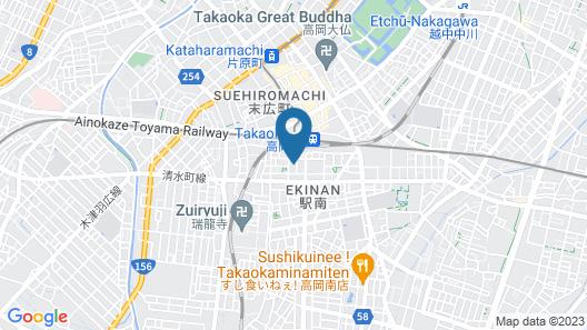 Hotel Crown Hills Takaoka Map