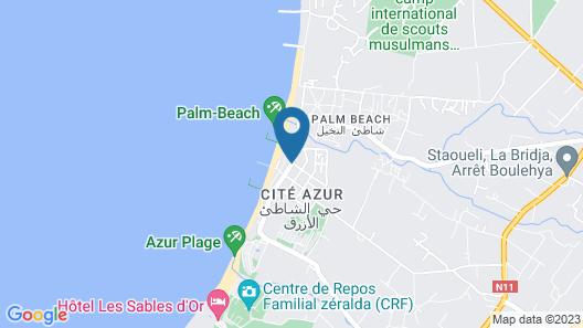 AZ Hotel Vague d'Or Map