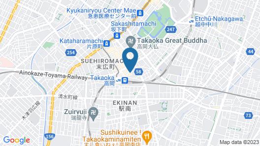 Hotel Route-Inn Takaoka Ekimae Map
