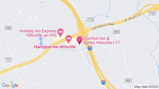 Comfort Inn & Suites Hillsville I-77 Map