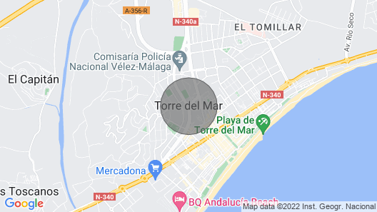 BEAUTIFUL CENTRAL STUDIO NEXT TO THE BEACH Torre del Mar Map