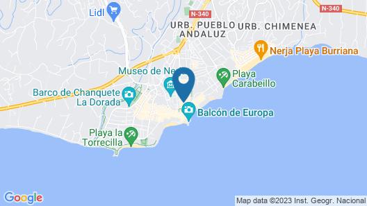 Hostal Luna de Nerja Map