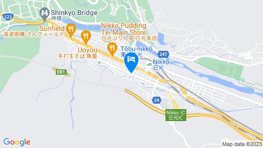 Nikko Station Hotel II bankan Map