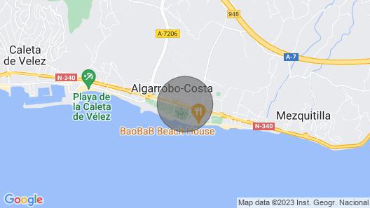 Mikroklima, Costa del Sol, Strand, Pool, Algarrobo Costa, A / C. Map