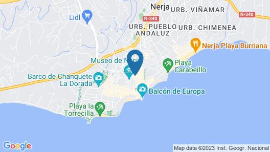 Apartamentos La Botica de Nerja Map