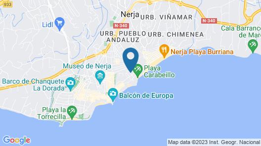 Apartamentos Carabeo Canovas Nerja Map