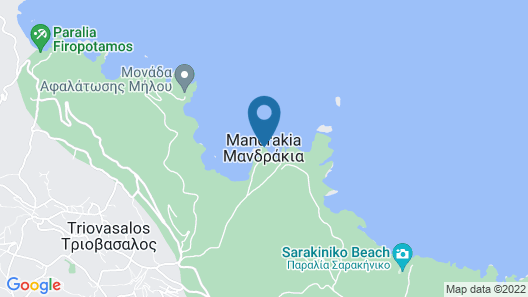 Mandrakia Totally Sea View House Map