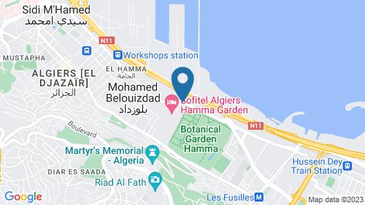 Sofitel Algiers Hamma Garden Map