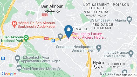 Radisson BLU Hotel Algiers Hydra Map