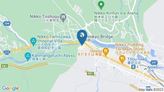 Nikko Kanaya Hotel Map