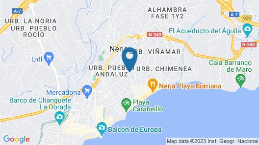 Jardines de Burriana Playa Nerja Canovas Map