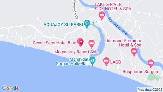 Seven Seas Hotel Blue - All Inclusive Map