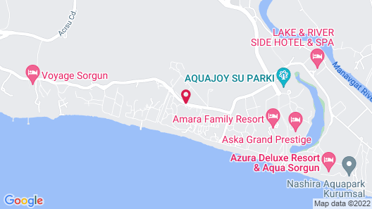Pegasos World Hotel - All Inclusive Map