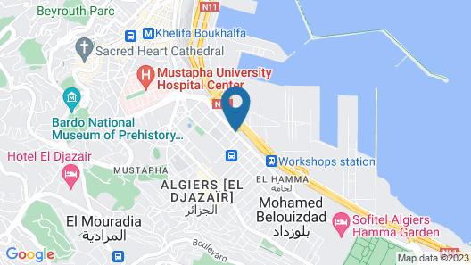 City Hotel Alger Map