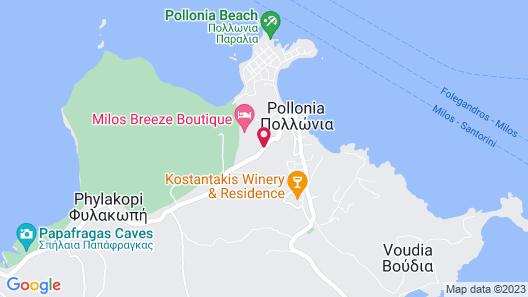 Milos Breeze Boutique Hotel Map