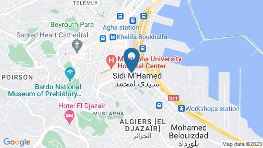 Alger: ALGER CENTRE APPARTMENT A LOUER AVEC INTERNET Map