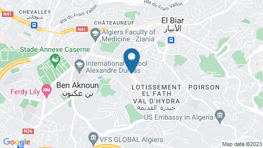 El Biar Hotel Map