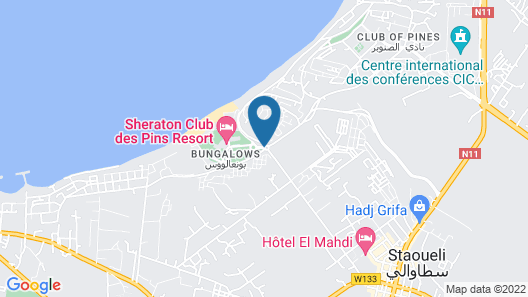 Sheraton Club des Pins Resort Map