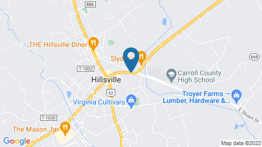 Knob Hill Motor Lodge Map