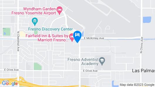 Hampton Inn Fresno Airport Map