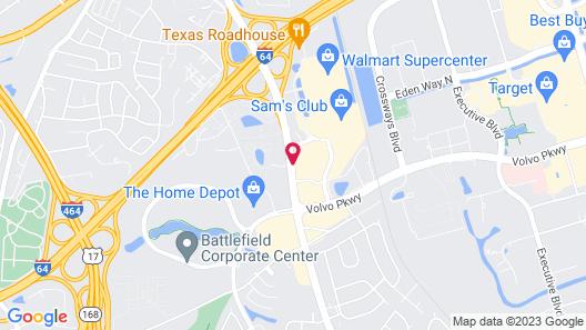 Hampton Inn & Suites Chesapeake-Battlefield Blvd. Map