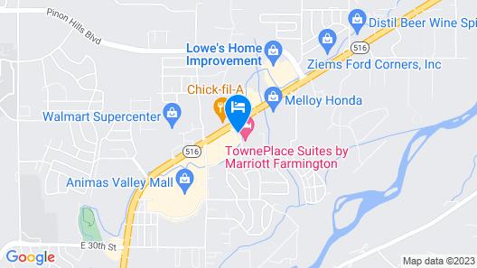 TownePlace Suites by Marriott Farmington Map