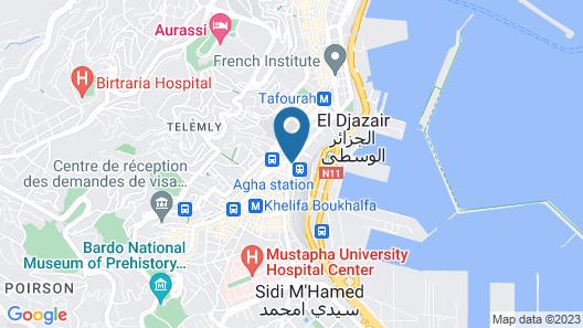 Alger Centre Grande Poste - 5ème Avec Ascenseur - Vue Mer - Wifi - Climatisé Map
